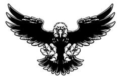 Ferocious Eagle Mascot Stock Illustration