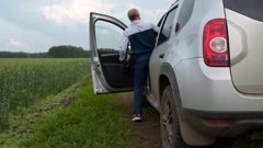 Driving in the countryside Stock Footage