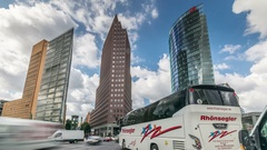 Berlin Potsdamer platz, an important public square and traffic intersection Stock Footage