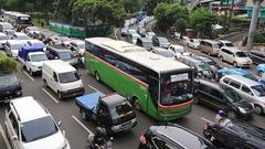 Traffic jam in Jakarta Stock Footage