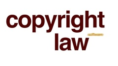 Copyright law animated word cloud, text design animation. Stock Footage