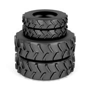 Front and rear tractor tires Stock Illustration