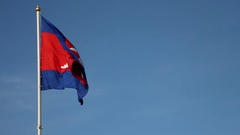 Cambodian Flag (normal motion) Stock Footage