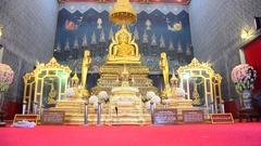 Buddha statue name Luang Pho Phet at Wat Tha Luang in Phichit , Thailand Stock Footage