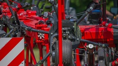 Agricultural machinery is closing Stock Footage
