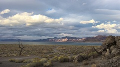 Pyramid Lake Nevada Tufas at Sunset Stock Footage