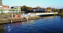 Aerial Footage of Amsterdam, Netherlands Stock Footage