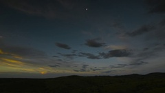 Bright Light Over Desert Stock Footage