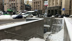 Secondary exit from Globus on Maidan, on Andriyivsky st. Stock Footage