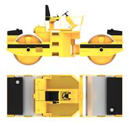 Roller machine 3d rendering Piirros
