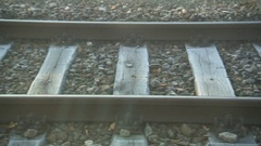 Rails passing nice shutter Stock Footage
