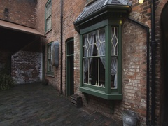 Facade of 19th Century Back to Back Houses Stock Footage
