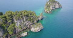 Aerial Footage of the Similan Islands, Thailand Stock Footage