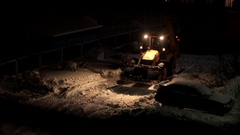 A tractor working at night Stock Footage