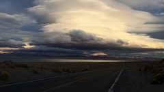 Pyramid Lake Road 446 to Nixon Nevada Vertical Composition Stock Footage