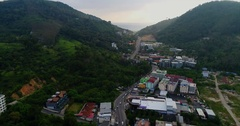 Aerial Footage of Phuket Patong, Thailand Stock Footage