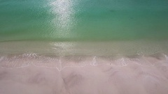 White Sandy Beach Stock Footage