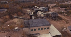 Dilapidated plant for the production of concrete Stock Footage