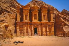 Stone Tomb in Petra, Jordan Kuvituskuvat