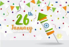 Happy Indian Republic Day celebration Stock Illustration