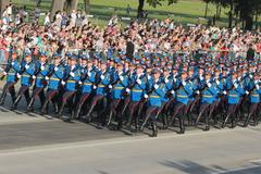 Serbain Army On Military Parade October 14th 2014. Kuvituskuvat