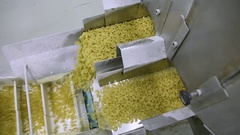 Conveyor with macaroni Stock Footage