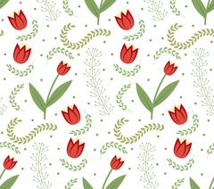 Floral seamless pattern. Flowers repeating texture. Botanical endless backg.. Stock Illustration