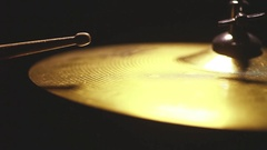 Drum stick hitting a cymbal Stock Footage
