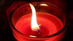 Candle flame, light, romantic Stock Footage
