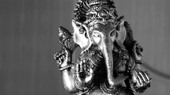 Lord Ganesha as a symbol of Hinduism, the God of wisdom and prosperity Stock Footage