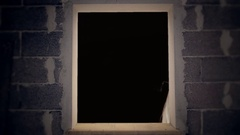 Window raw cursed doll appearing Stock Footage