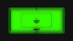 Digital futuristic glitching binocular view over green V2 Stock Footage