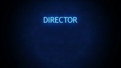 Futuristic Movie Credit with room for name - Director Glitching Stock Footage