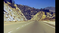 Drive through Yosemite NP Stock Footage