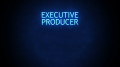 Futuristic Movie Credit with room for name - Executive Producer Glitch Stock Footage