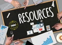 RESOURCES and Human Resources Business Profession Graphic Stock Photos