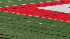The end zone of a football field. Stock Footage
