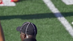 A referee at an American football game, slow motion. Stock Footage