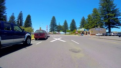 Automobile POV driving along Stock Footage