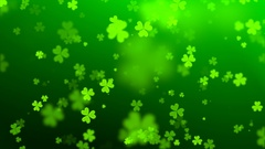 Green hearts on the day of St. Patrick Stock Footage