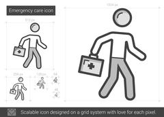 Emergency care line icon Piirros