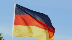 Germany - Real National flag waving in the wind Stock Footage