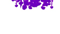 VIOLET INK BACKGROUND. INK IN WATER ON WHITE BACKGROUND SERIES. 3d render voxel Stock Footage