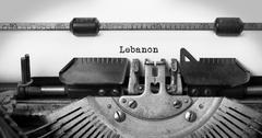 Old typewriter - Lebanon Stock Photos