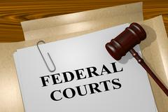 Federal Courts - legal concept Piirros