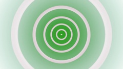 Continuous target bullseye loop fractal or sprouting rings Stock Footage