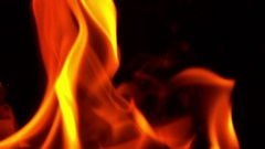 Burning Fire, Bright Light, Slow Motion Stock Footage