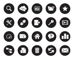 Hosting web icons vector for office, web, blog, graphic & printing Stock Illustration