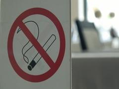 No Smoking area sign Stock Footage