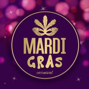 Mardi Gras carnival background Stock Illustration